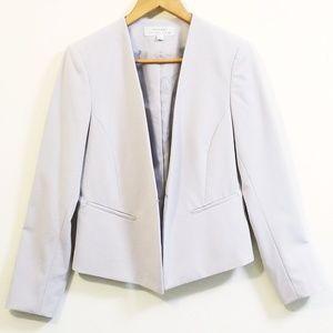 TAHARI Open Front Grey Blazer Jacket
